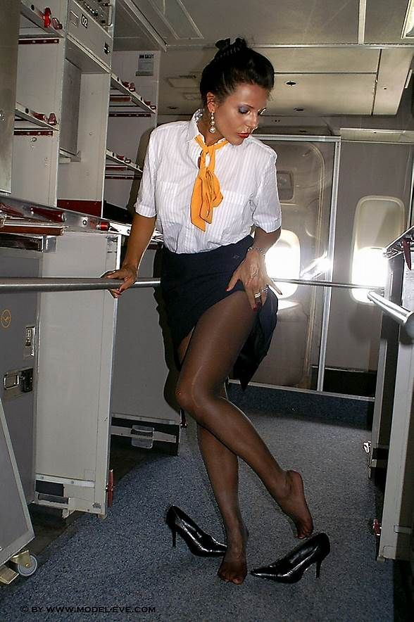 Windy upskirt air hostess