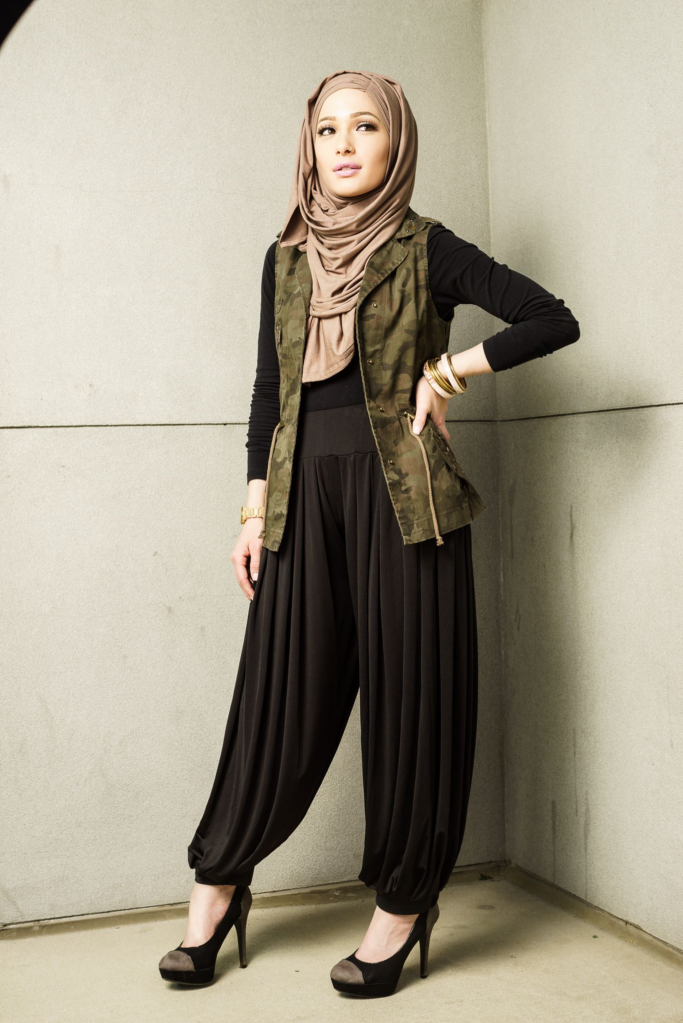 Paired with our jasmine jersey hijabs our harem pants are a must