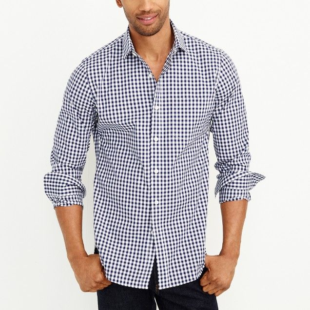 Gingham flex wrinkle free Voyager dress shirt | Discount