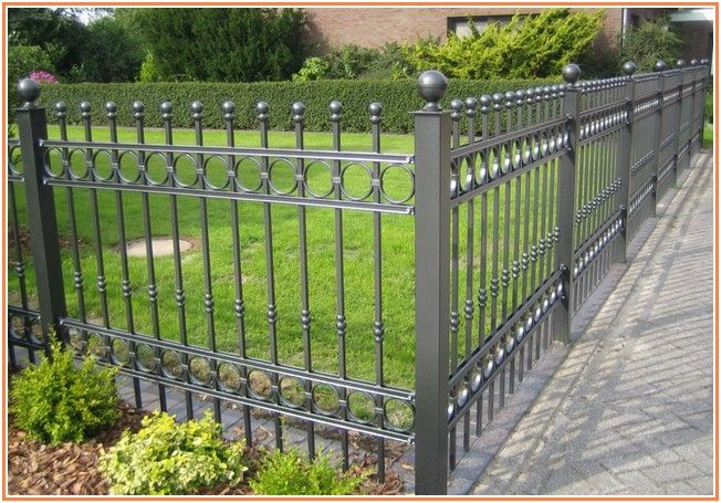 Extremely Wrought Iron Fencing Lowes Hekwerk Tuin Terras