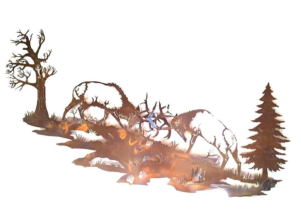 Battle For Windy Ridge Bull elk, Mule deer, Elk