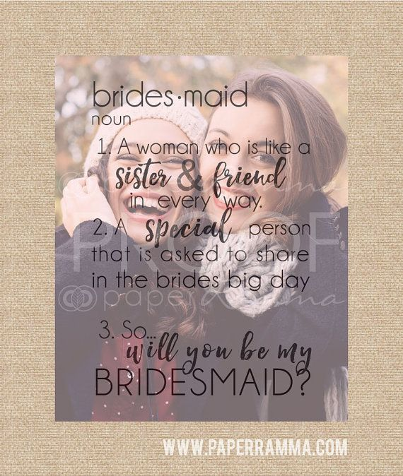 Will You Be My Bridesmaid Art, Bridesmaid Quote, Be My ...