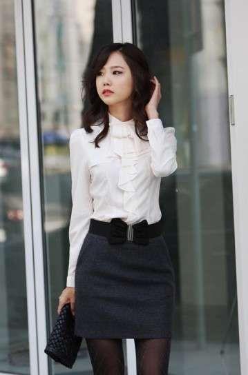 7eac1c7ca Bodas en invierno: Cómo vestir adecuadamente - Falda corta y camisa ...