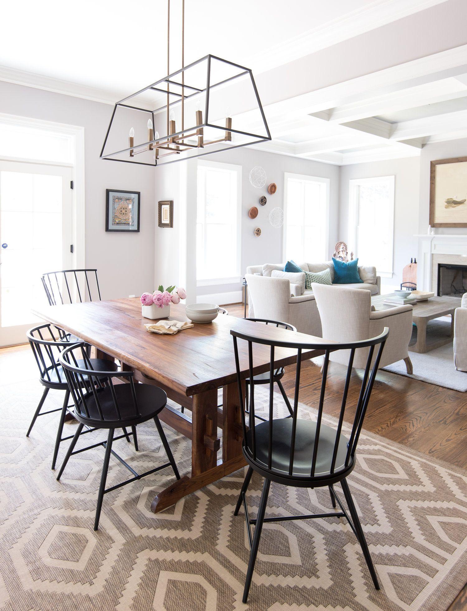 Simplistic yet cozy dining room design | Kerra Michele Interiors