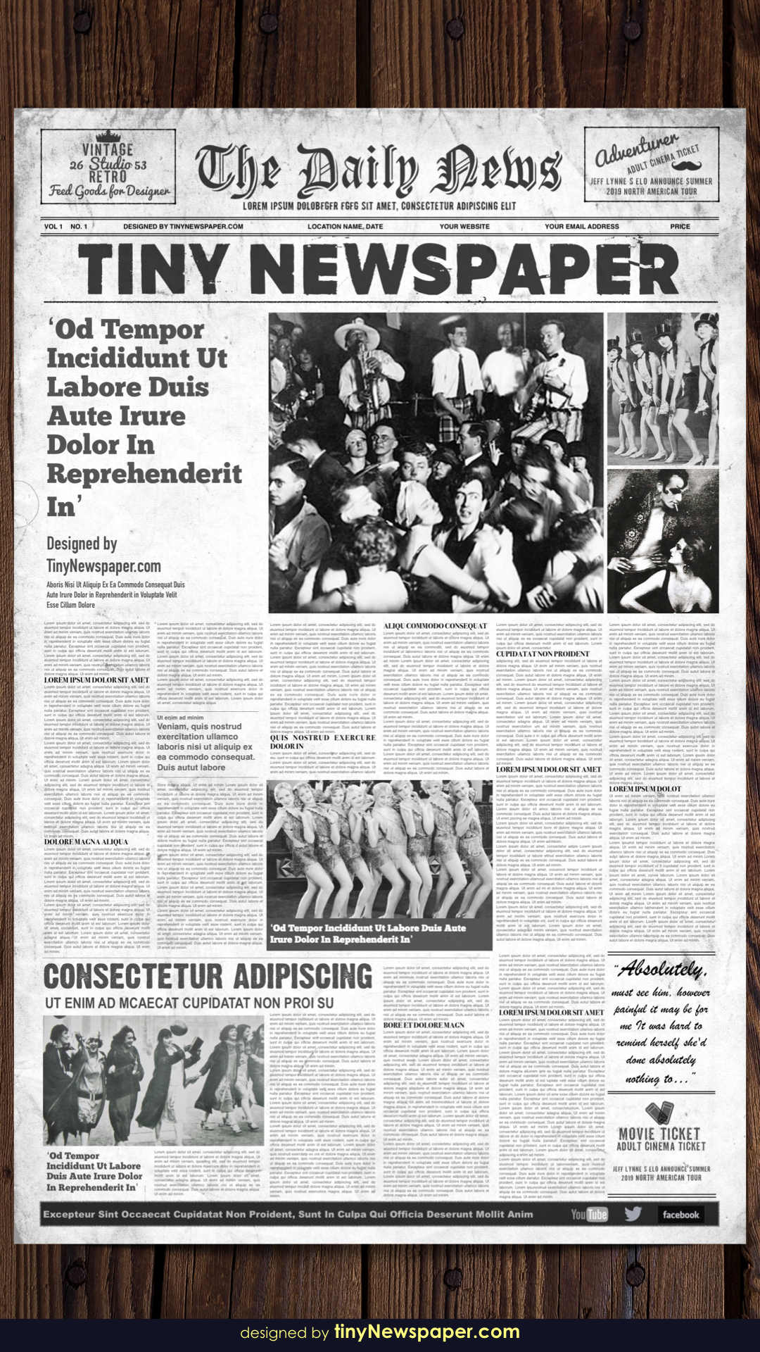 1920s Vintage Newspaper Template Word Newspaper Template Word Newspaper Template Vintage Newspaper