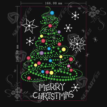 Christmas Tree With Green Leaf Shinny Light Shoes Hot Fix Rhinestone Transfer Motifs Design Buy 2013 New Christmas Mandala Christmas Paintings Christmas Art