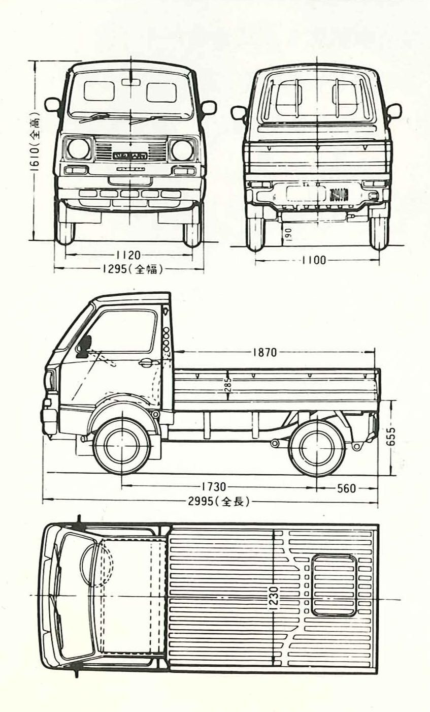 Subaru Sambar blueprint | Blueprint. | Pinterest | Subaru and Cars