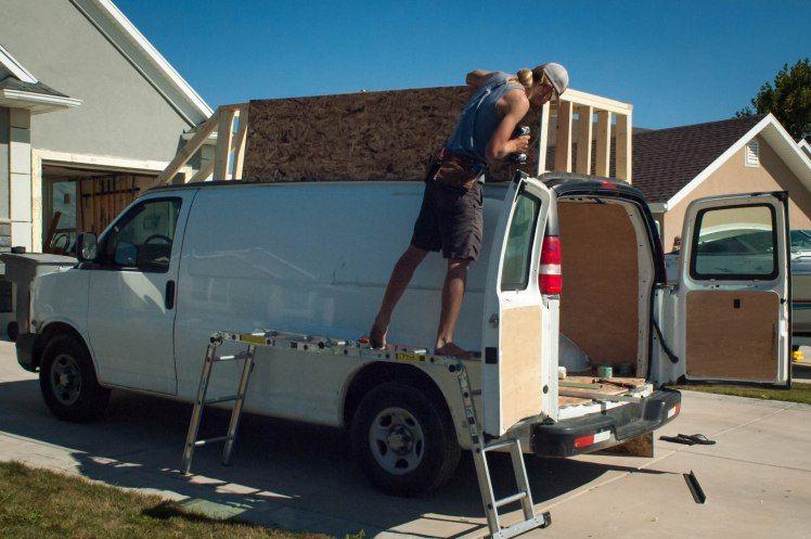 Installing Osb 1 Of 1 Van Life Cargo Van Conversion Astro Van