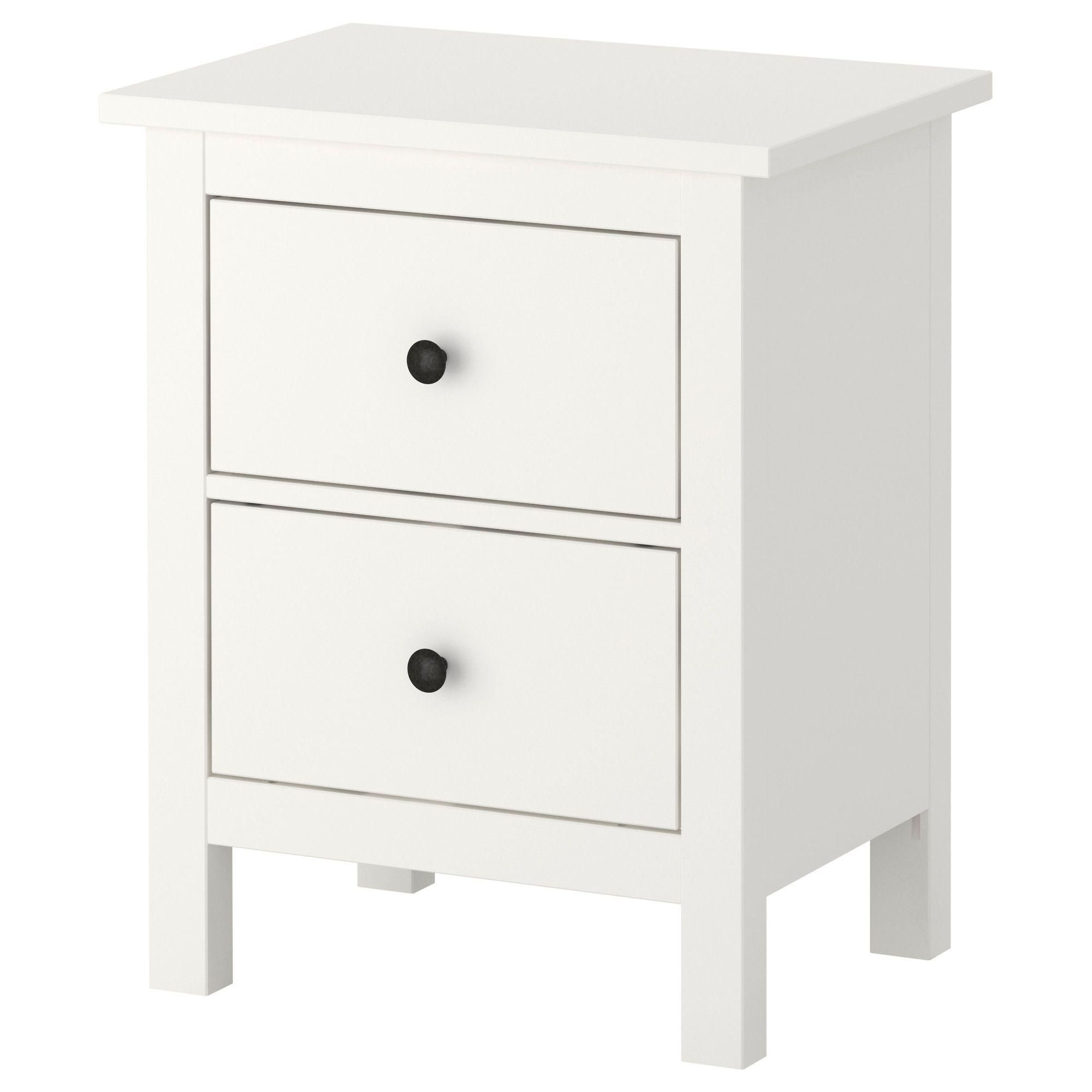 Hemnes Coffee Table White Stain 90 X 90 Cm: Ikea 2 Drawer Dresser