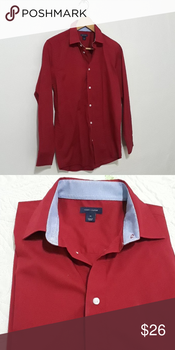973aafb2a Tommy Hilfiger boys long sleeve red dress shirt. Tommy Hilfiger boys long  sleeve red dress shirt. (New without tag) Tommy Hilfiger Shirts & Tops Button  Down ...