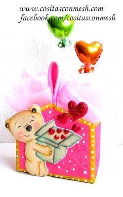 Cajas de regalo para el 14 de febrero manualidades DIY ~ cositasconmesh