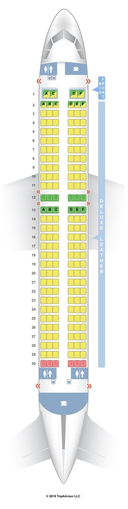 Seatguru Seat Map Spirit Airbus A320 320 Seatguru Ryanair Qatar Airways