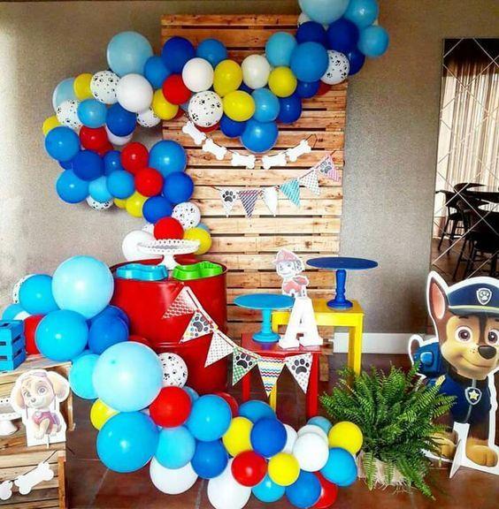 Globo De Paw Patrol Decoracion Topper Para Cumpleaños Fiestas Niña Niño 2 Años