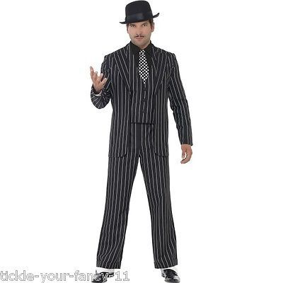 Al Capone Gangster Black White Trouser /& Suit Jacket Adults 20s Fancy Dress