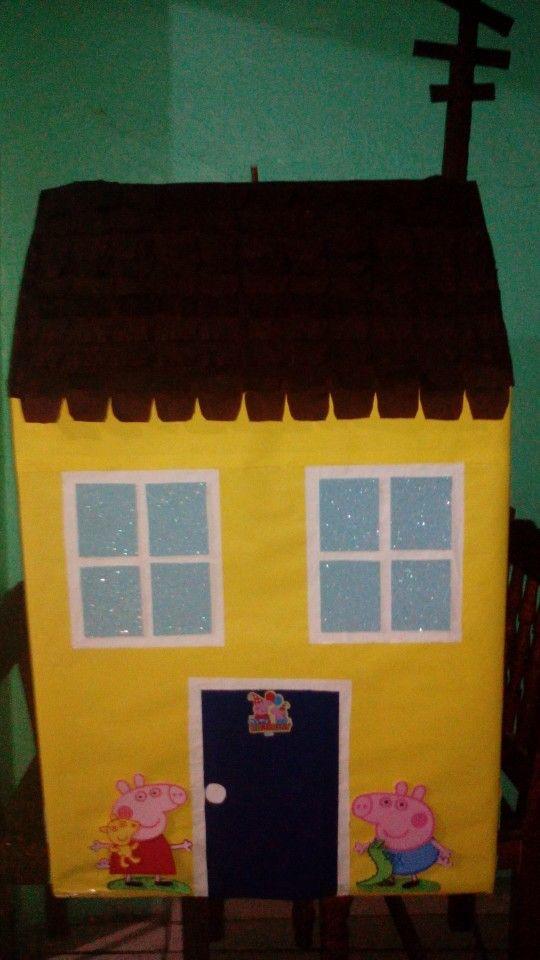 Caja para regalos casa de peppa y george pig peppa pig for Casa regalo