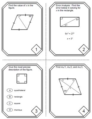 Rhombus Rectangle Square Worksheet - Checks Worksheet
