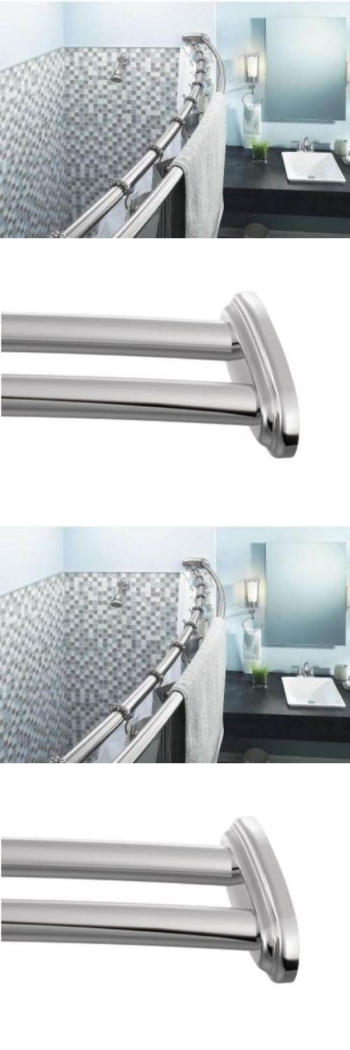 Shower Curtain Rods 168132: Moen 60 Inch Shower Curtain Rod Stainless Steel  Adjustable Curved Chrome