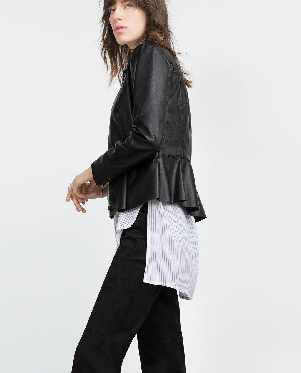 nuovo concetto 0a0b7 0e8e6 Immagine 3 di GIUBBOTTO EFFETTO PELLE BASCHINA di Zara ...