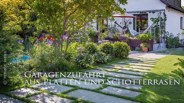 Landhausgarten Gartenideen Fur Wege Terrassen Zufahrt Staudenbeete Und Bepflanzung Garten Planen Garten Garten Neu Gestalten