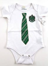 hogwarts house onesies | ... Harry Potter Infant Baby Onesie Slytherin House Crest w/ Tie NEW 12Mo
