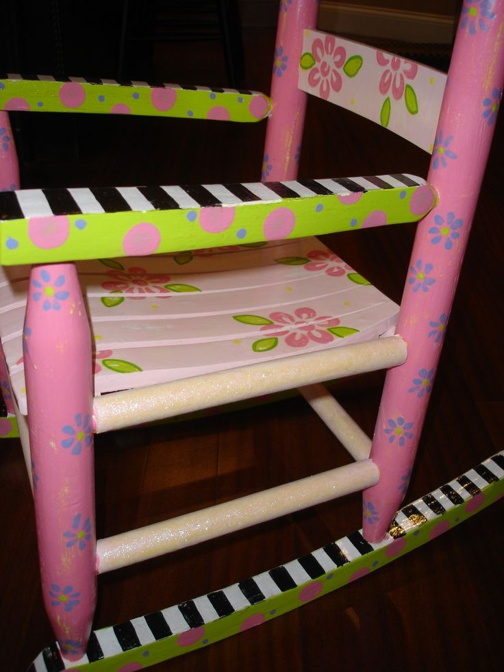 Images Of Hand Painted Childrens Chairs | Hand Painted Childrenu0027s Furniture.  Hand Painted Rocking Chair
