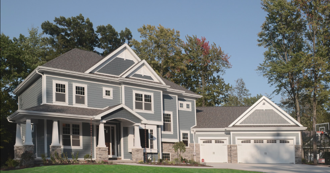 Siding In Hardie Boothbay Blue Shingles In Hardie Evening Blue Blue Siding House Exterior Exterior Design