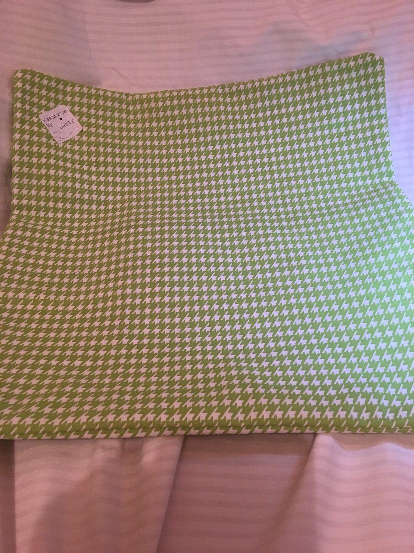 Green u white check print cushion cover au katly plus