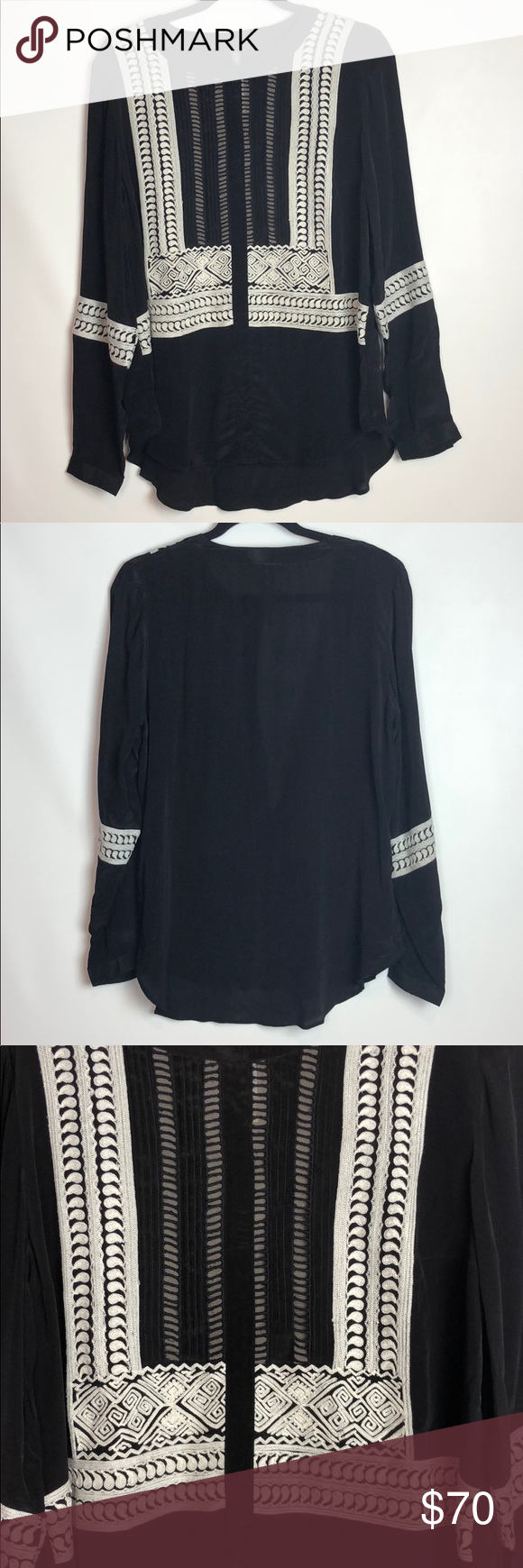 Plenty by tracy reese blk embroidered long sleeve in my posh