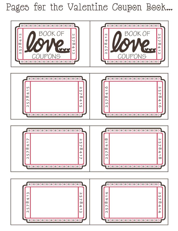 Blank Printable Valentine Coupon Book