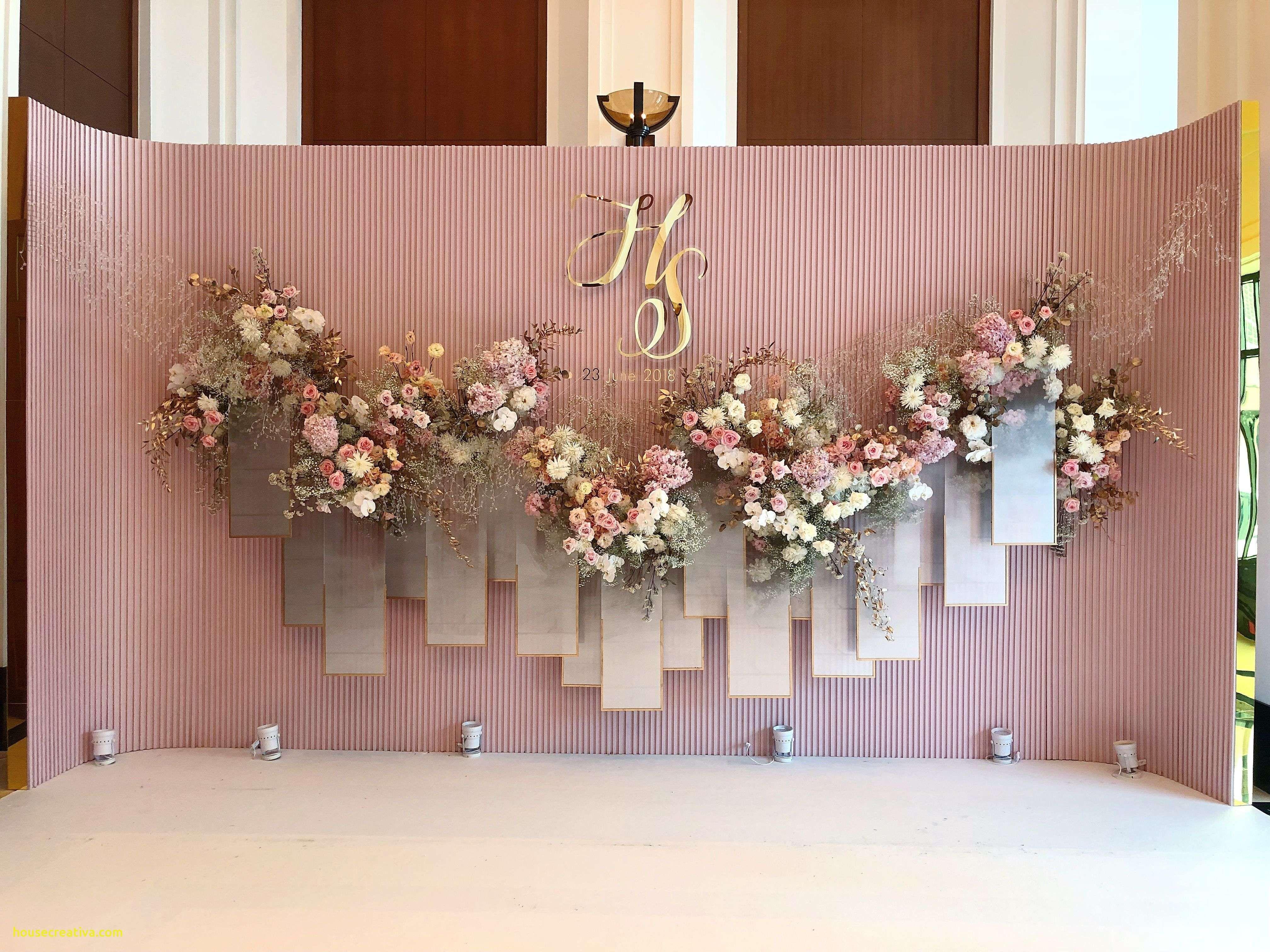 Wedding Stage Background Flower Decoration