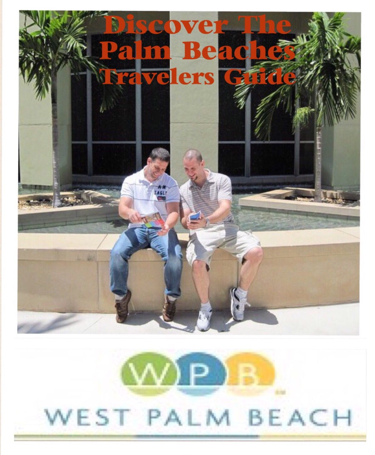The Palm Beaches travel guide... I created this using a photo i took of my husband snd his brother...