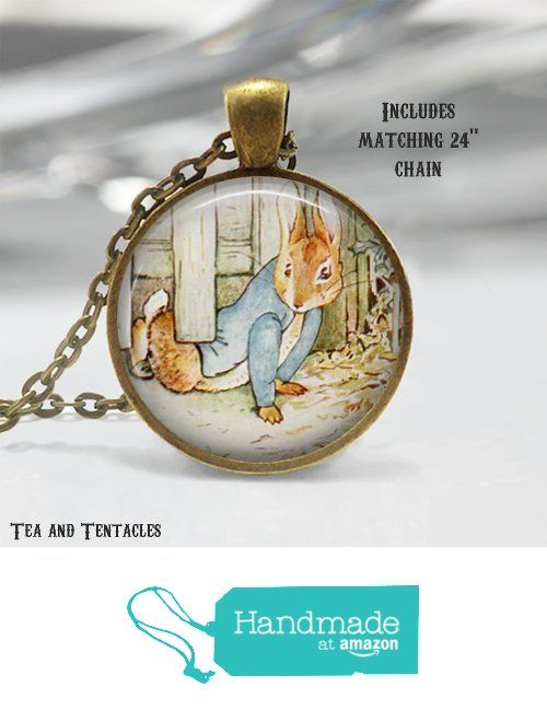 Beatrix Potter Necklace, Peter Rabbit Pendant, Easter, Spring Necklace with matching chain from Tea and Tentacles https://www.amazon.com/dp/B01AYR42MK/ref=hnd_sw_r_pi_dp_h75SybR1QS4KG #handmadeatamazon