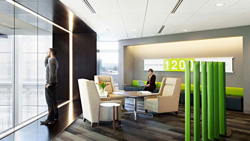 Mylan Projects Gensler Corporate Design Commercial Interiors Lounge Seating