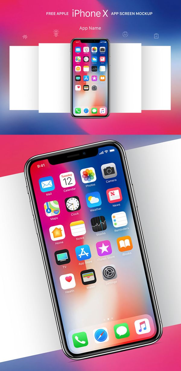 ios splash screen template psd - free download iphone x psd mockups and sketch 7 free