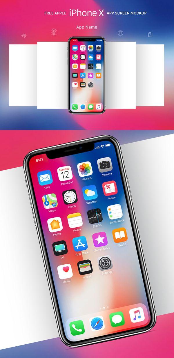Free iPhone X Mockup Templates (28 Mockups) Iphone