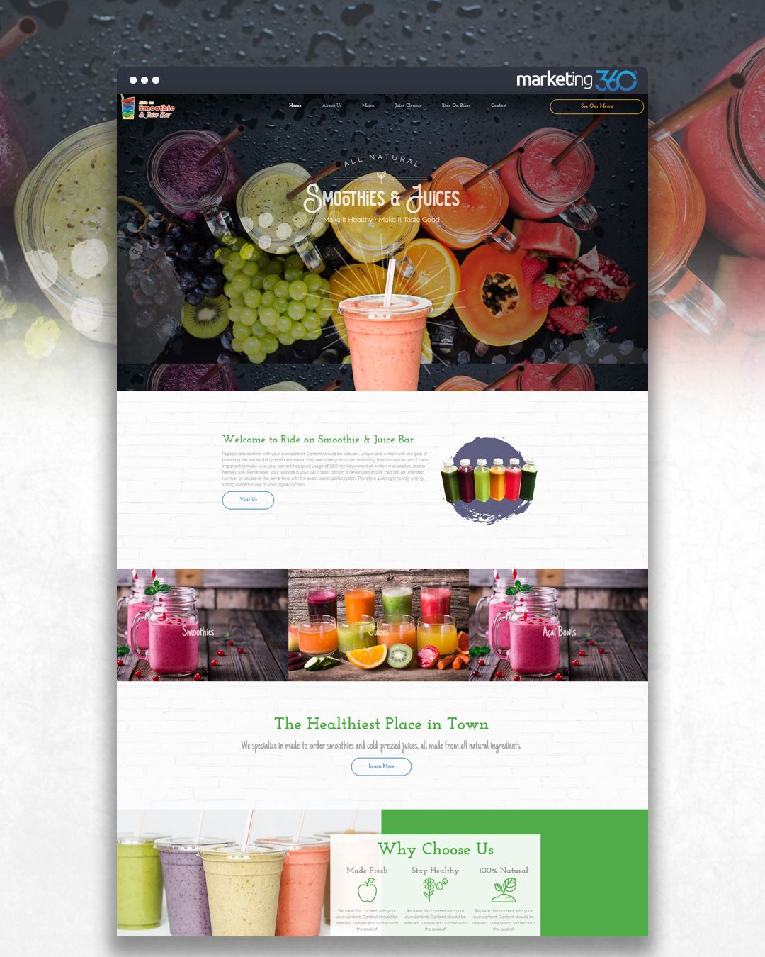 7e248ff0c0 Design of the Day  Smoothie   juice bar website design concept by our  talented designer Casey Hoerr.