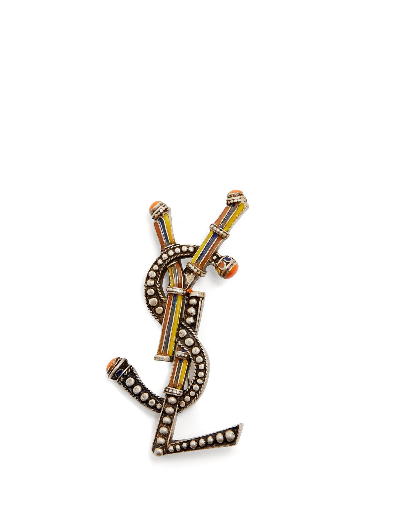 440d2886296 Click here to buy Saint Laurent Opyum Berber YSL brooch at  MATCHESFASHION.COM