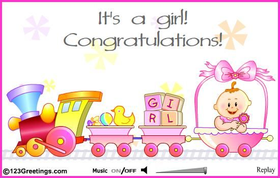 baby girl congratulations