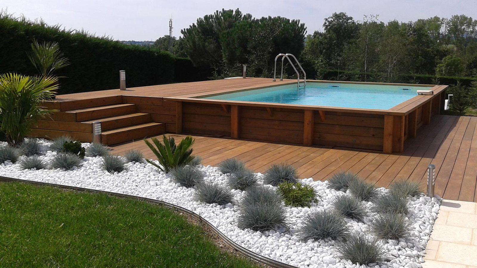 Piscine hors sol recherche google piscine pinterest for Prix piscine bois enterree