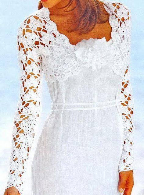 Crochet Sweater: Bolero - Crochet Bolero Pattern | Häkelkleidung ...