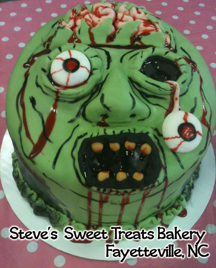 Zombie cake Seths 7th Birthday cake Food Drink that I love