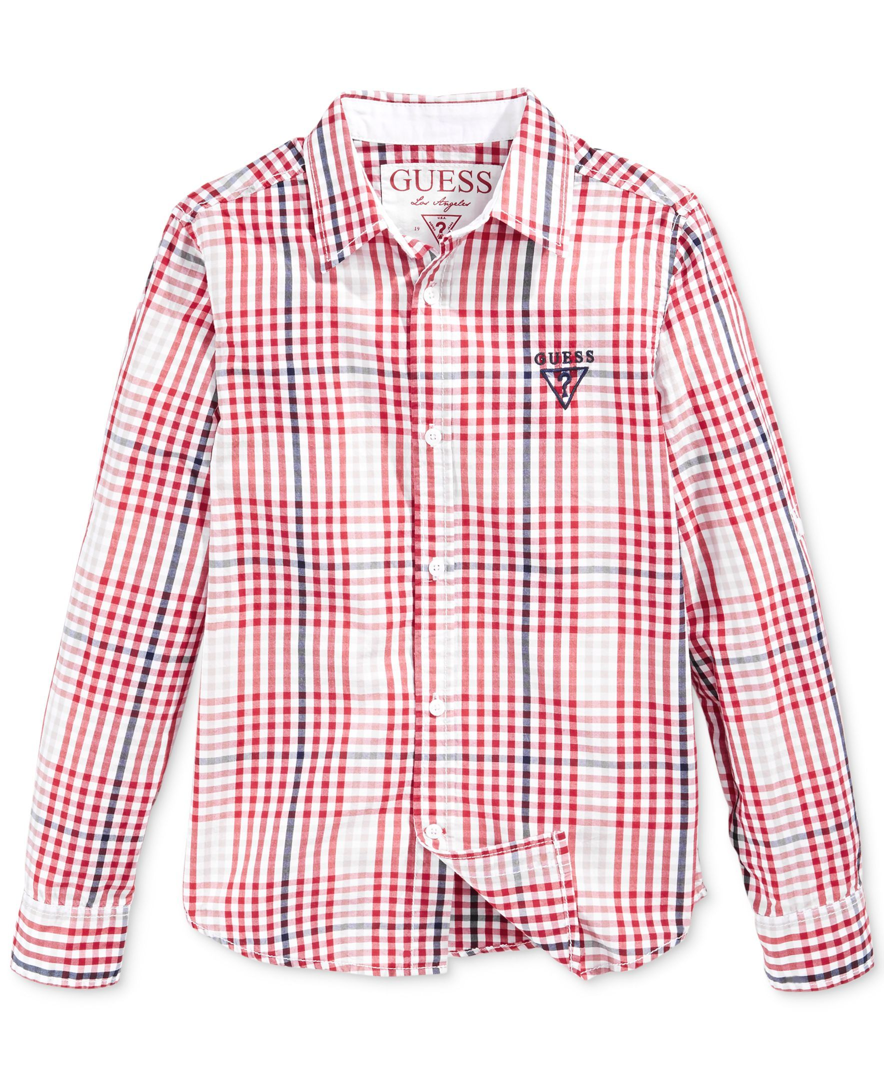 Guess Little Boys Gingham Shirt Products Pinterest