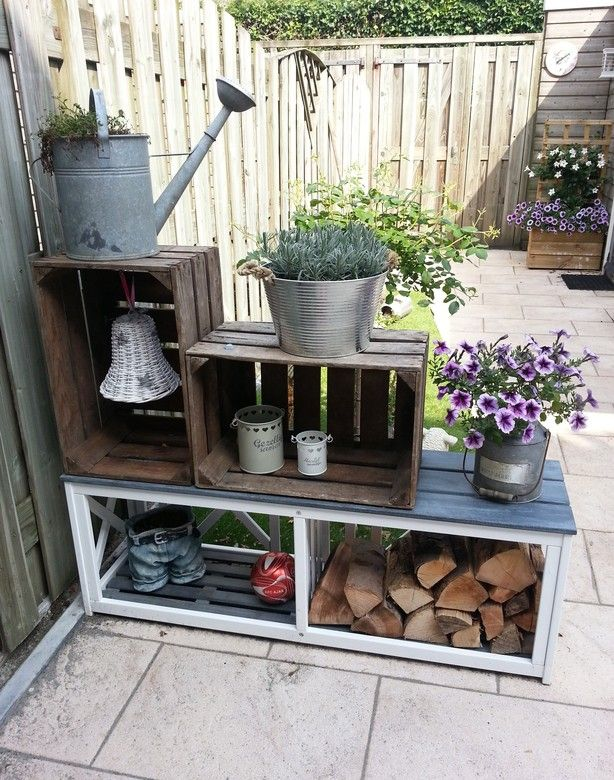 Afscheiding tussen terras en grasje tuin terras pinterest gardens outdoor living and - Decoratie tuinterras ...