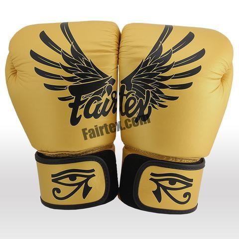 Gold Fairtex Falcon Limited Edition Boxing Gloves