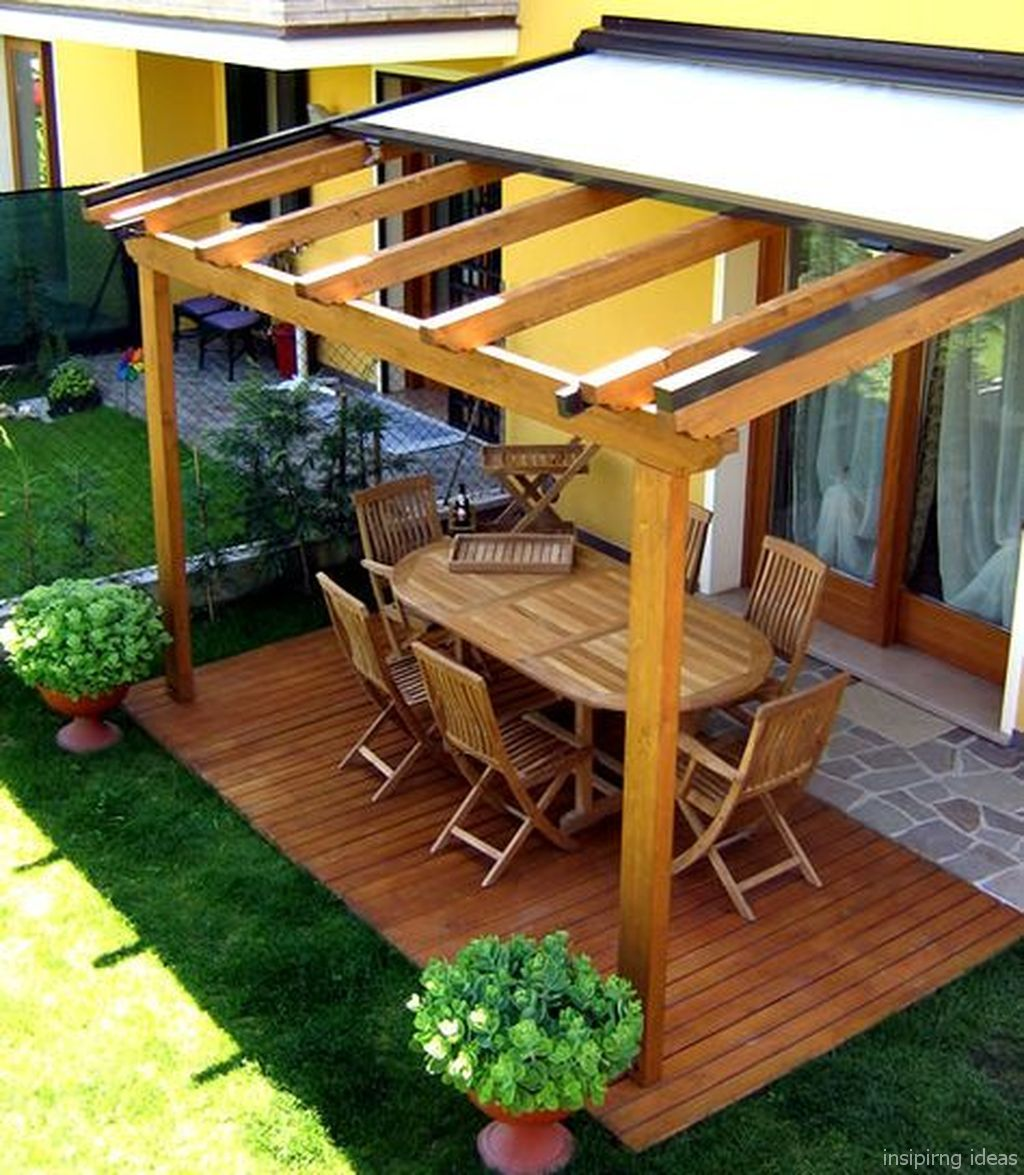 Pergola Off Of An Existing Covered Porch: 87 Affordable Covered Pergola Design Ideas