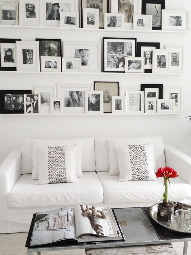 Photo Wall Gallery... Great way to display photos, especially on a ...