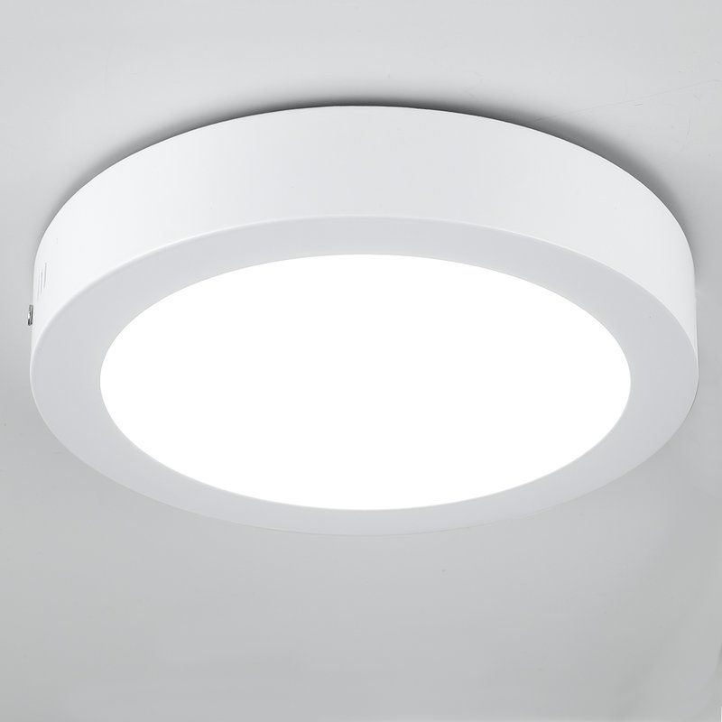 These Surface Mounted Led Ceiling Spotlights Feature A White Metal Construction And Integrated Led Kitchen Ceiling Lights Flush Lighting Flush Ceiling Lights