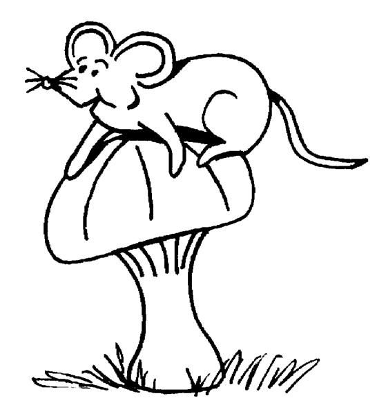Free coloring page printable. It\'s a little bitty mouse. Squeak ...