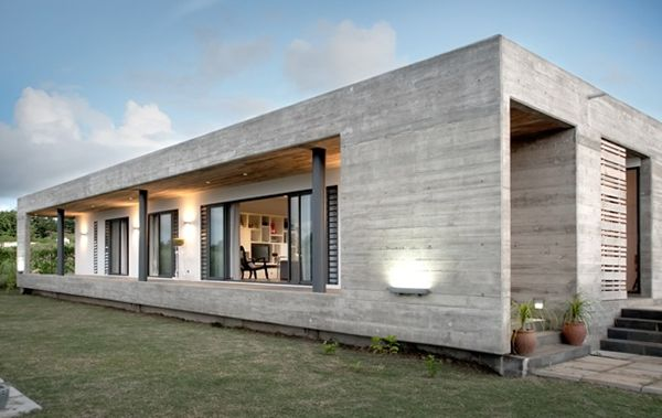 Concrete Homes Rectangular House By Rethink Modern Designs