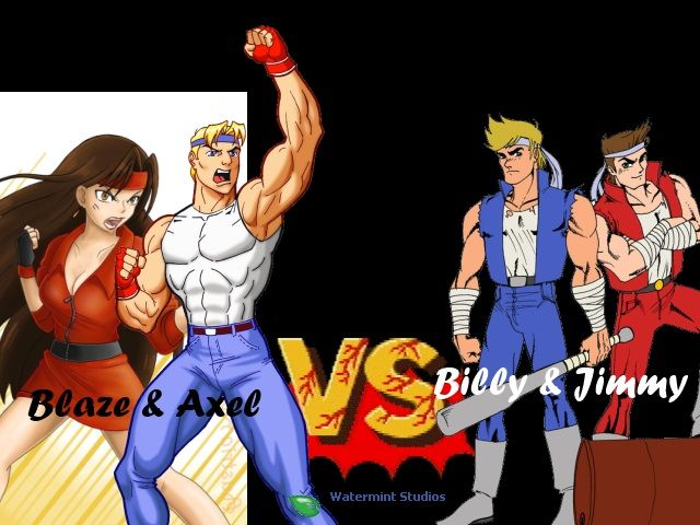 Streets Of Rage Double Dragon Axel Blaze Billy Jimmy Double Dragon Rage Bare Knuckle